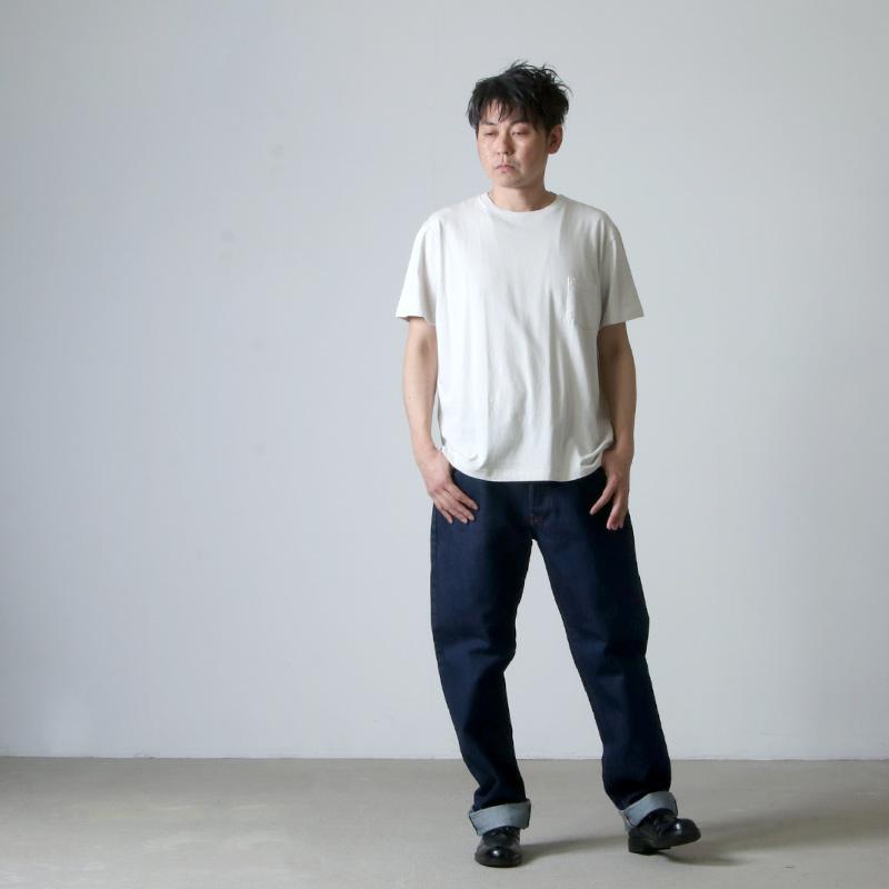 YAECA(ヤエカ) STOCK 丸胴 CREW NECK SHORT SLEEVE POCKET TEE