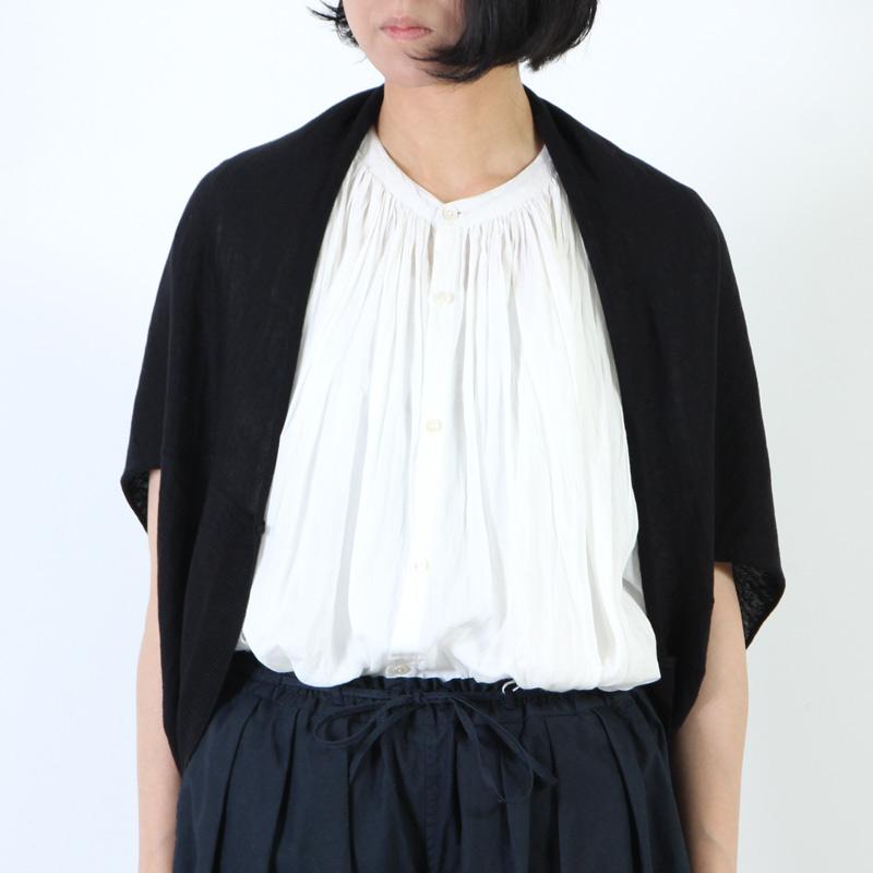 evameva(エヴァムエヴァ) Linen cotton bolero