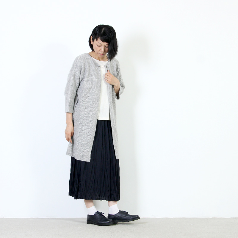 evameva(エヴァムエヴァ) Silk wool robe