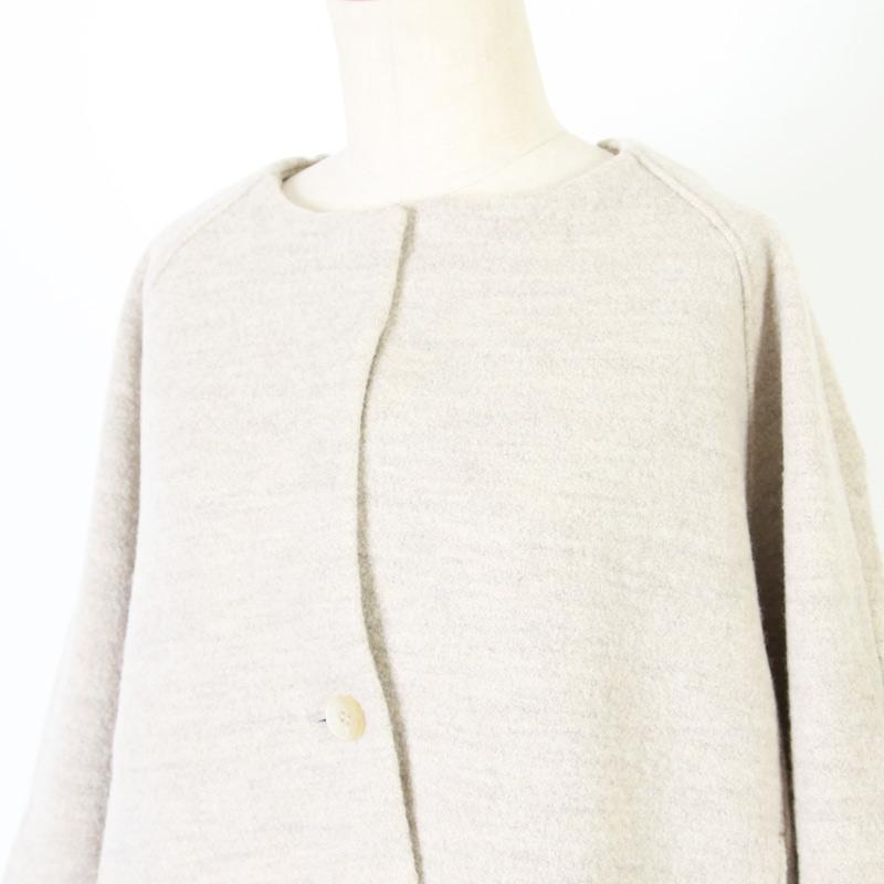 evameva(エヴァムエヴァ) Press wool short coat