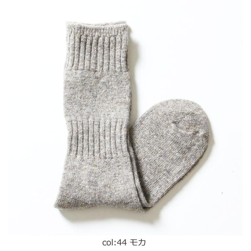 evameva(エヴァムエヴァ) Wool cashmere rib socks