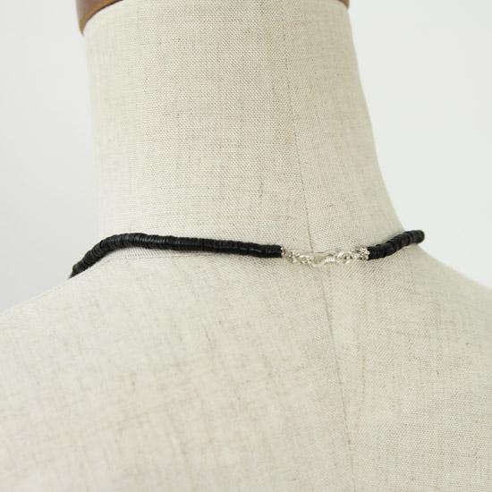 Hanalima(ハナリマ) アフリカプレートビーズ×淡水パールネックレス