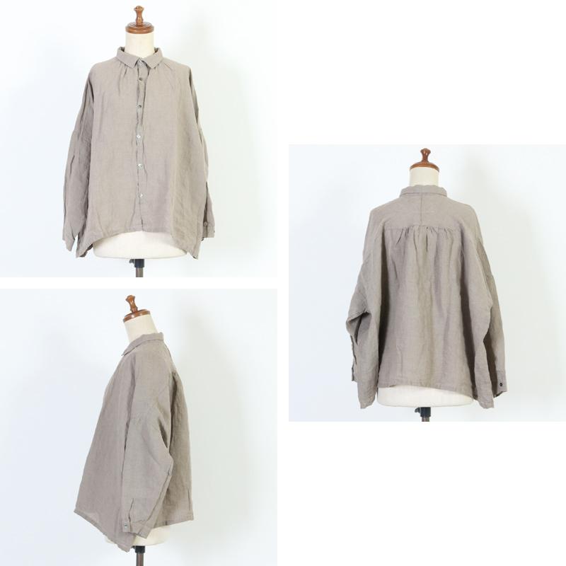 ICHI Antiquites(イチアンティークス) カラーリネンギャザーシャツ
