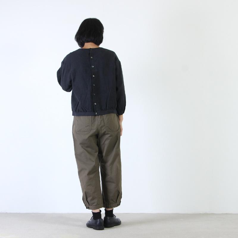ina(イナ) リネン後ろボタンプルオーバー