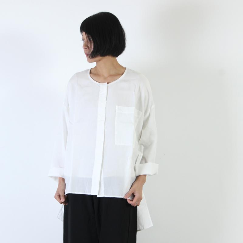 MidiUmi(ミディウミ) ノーカラーワイドシャツ