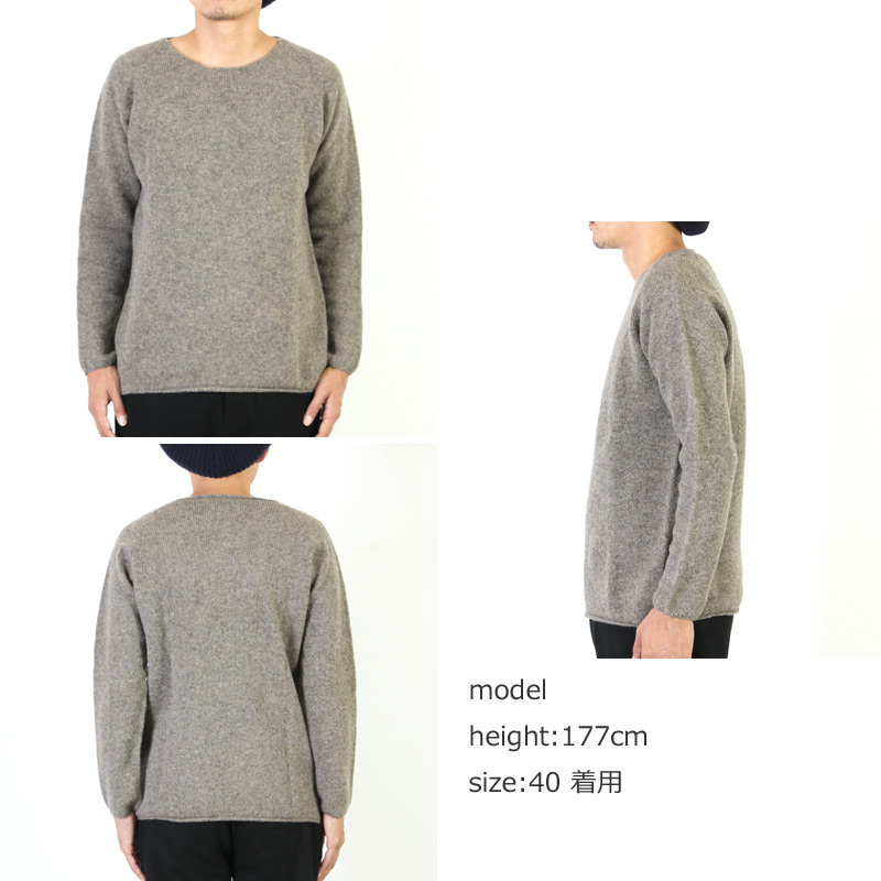 NOR'EASTERLY(ノア イースターリー) L/S WIDE NECK KNIT