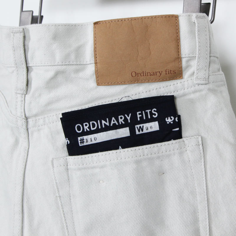 Ordinary Fits(オーディナリーフィッツ) 5POCKET ANKLE DENIM white one wash