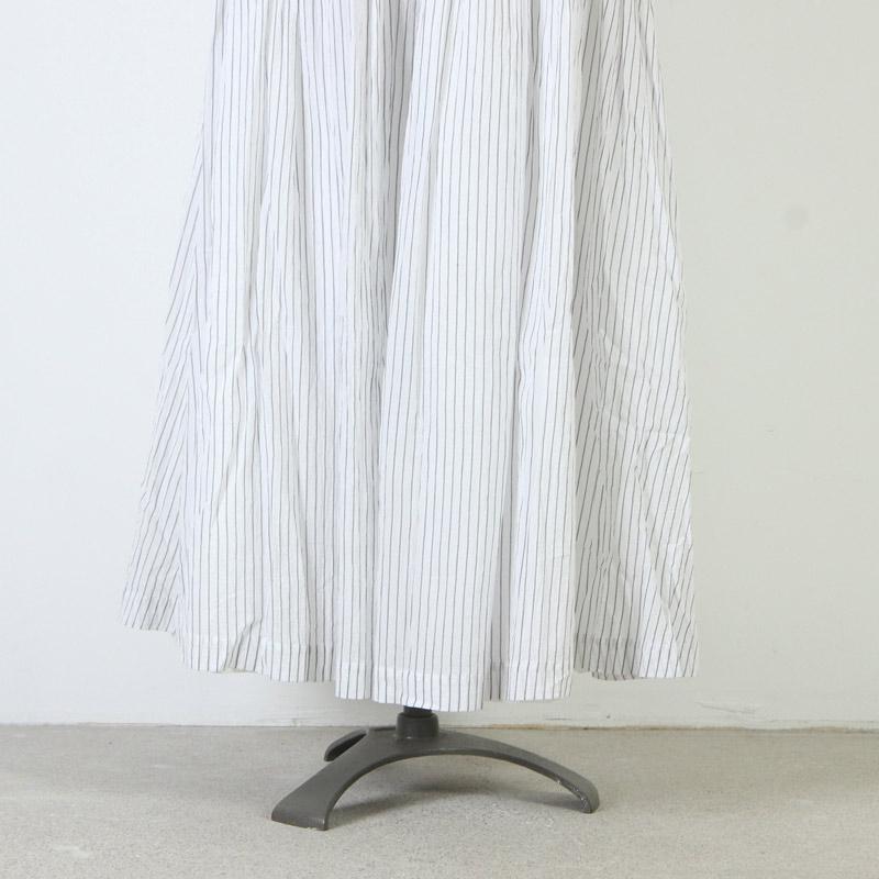 Vlas blomme(ブラスブラム) 先染め80'sボイルストライプ リバーシブルシャーリングスカート